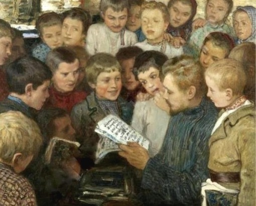 Bogdanov-Belsky (1868-1945).Belsky, Nikolai Petrov (1868-1945) In the villageschool
