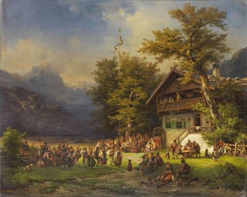 Carl Millner - Maibaumfest, 1848