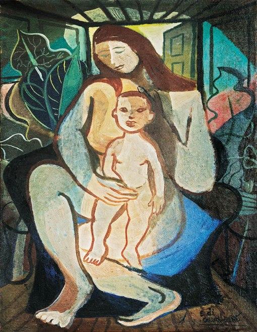 Di Cavalcanti, Maternidade,ost, (década de 1950)65,5 x 50 cm