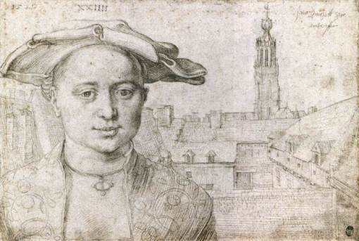 Durer, retrato de homem em sua viagem à Holanda e Bélgica.