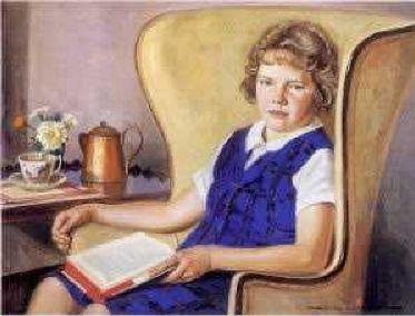 Edward Horace Nicholson (1901 – 1966)a-break-from-reading