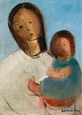 José Pancetti, (1902-1954)Maternidade, 1954,  Campinas, ost