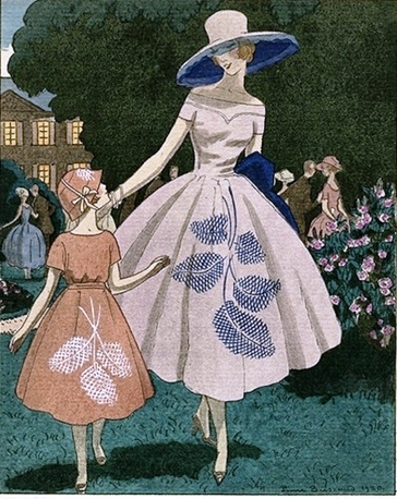 mãe e filha vestidos iguais