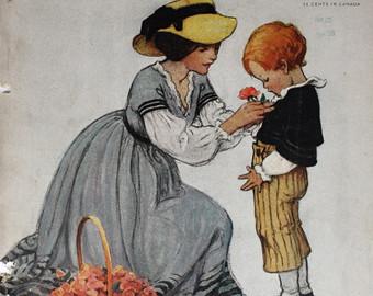 mãe e filho, capa Good Housekeeping, junho 1928