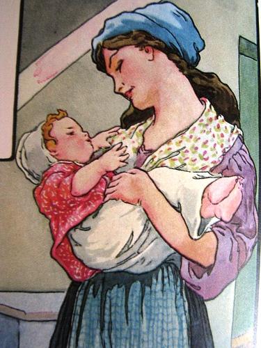 mãe ninando o bebe. frederick richardson, 1975