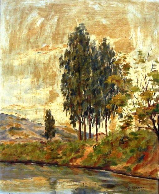 A. Seabra Paisagem com lago, o.s.t. - 46 x 37