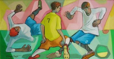 Ademyr Costa, Futebol 4,2012, ost, 45 x 85 cm
