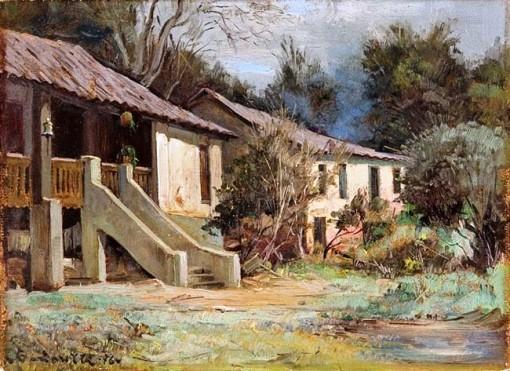 Aldo Cardarelli,Paisagem, 1976, ost, 24 x 33 cm