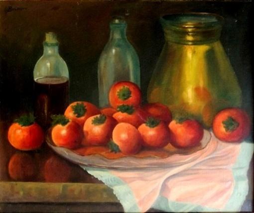 BELMIRO DE ALMEIDA, Tomates - oleo sobre tela - 50x60 cm - ACIE