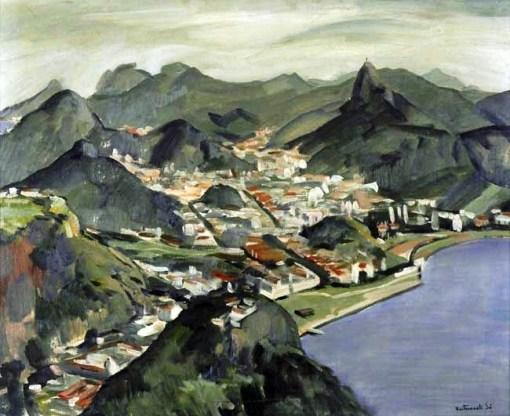 Bustamante Sá,Vista do Rio de janeiro,60 x 73 1949
