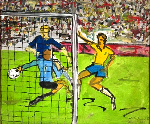 CLAUDIO FACCIOLI - Futebol, O.S.T, C.I.D, datado de 1990, 50x60 cm.