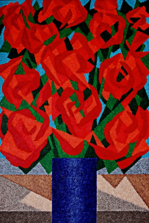 Cláudio Tozzi,Flores, 1996, 150 x 100 cm - ASTCM