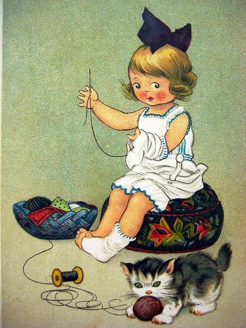 costurando com gatinho