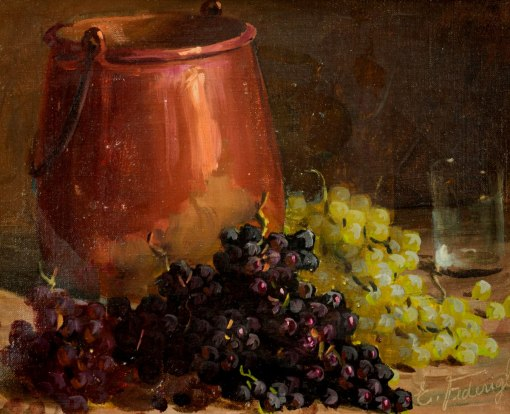 ETTORE FEDERIGHI - (1909 - 1979)Natureza morta - óleo sobre tela - 25 x 31 cm
