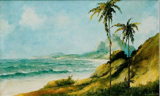 FranciscoCOCULILO(1895-1945)São Conrado, ost,50x80cm