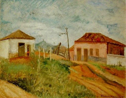 FranciscoREBOLO Gonsales(Brasil,1902 - 1980)Paisagem rural, 1929,ost, 33 x 42 cm