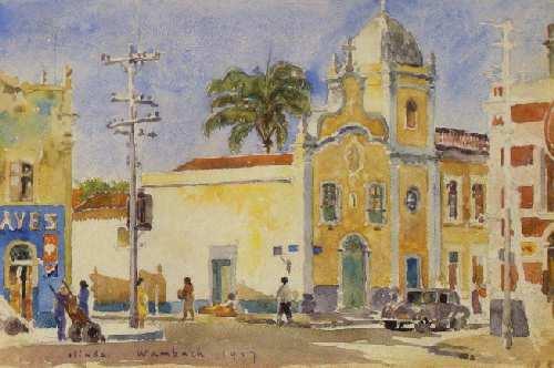 GeorgesWambach Igreja N. S. do Bom Parto (1957) - Olinda - 16 x 24,5 cm