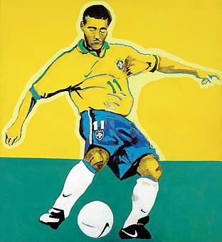GERCHMAN, Rubens, Romário - Copa de 1994,ast, Reproduzido à p. 8 do catálogo da exposição L´Esthétique du Football na Galerie Gerome de Noirmont, Paris, 1998, 180 x 150 cm