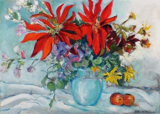 Haroldo Mattos, Flores, 1985, 60 x 80 cm – OST