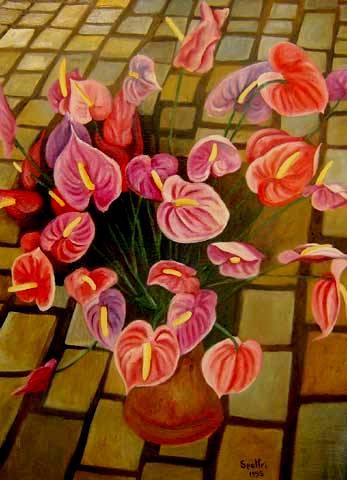 Ingres Speltri, vaso de flores, 1995,asp,94x70