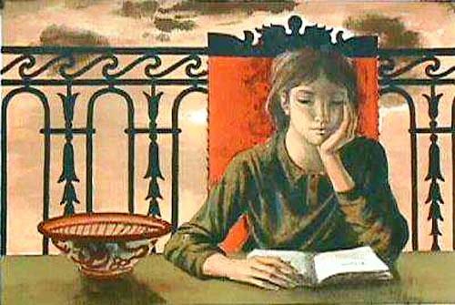 Jean-Pierre Alaux (1925) - fille lisant