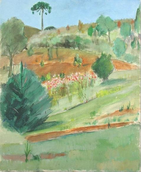 JOSE PANCETTI (1902 - 1958)Campos do Jordão, dec 1950.Óleo sobre tela, 55x 46 cm.
