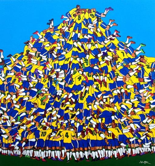 JVicttor, (Brasil)Gol do Brasil, 2013, ast, 1,30 x 1,22m