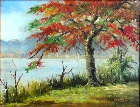 LEVINO FANZERES (1884-1956)Curva do Calombo-Lagoa-RJ,osm, 16 x 21