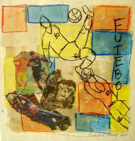 Mariana Holtz,Futebol,Técnica mista sobre papel,36 x 33 cm