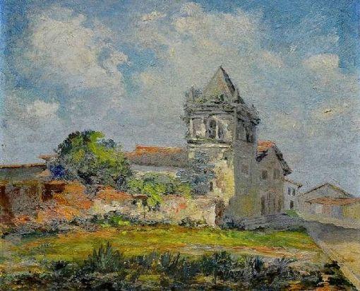 MENDONÇA FILHO (1895 - 1964) Igreja de São Lourenço dos Índios - Itapuã, o.s.t. - 32 x 40