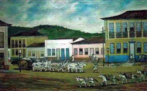 obras de octo marques pintura a oleo 02OCTO MARQUES (Brasil, 1915-1988) goias velho