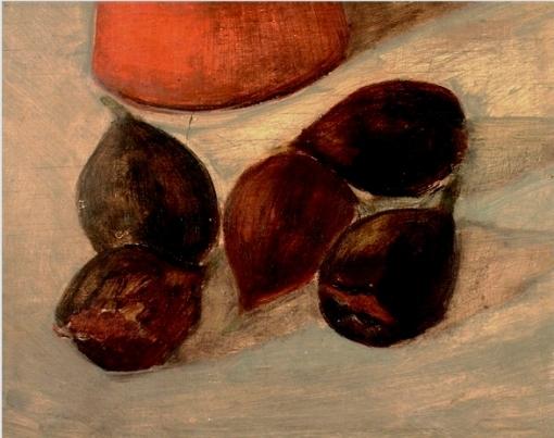 PANCETTI, Jose (1904 - 1958)Figos. Óleo sobre madeira, 22 x 27 cm.