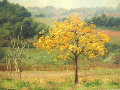 ROSÂNGELA MARASSI - Ipê amarelo - Óleo sobre tela