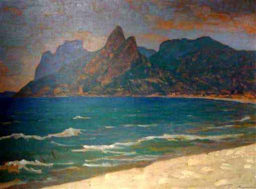 TúlioMugnaini (Brasil, 1895-1975), Ipanema, sd,Óleo sobre tela, 54x 72cmColeção Particular