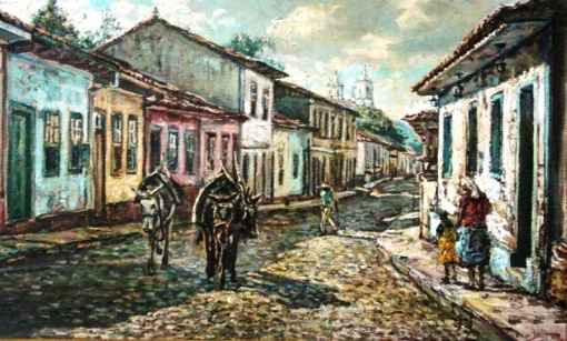 VAN DIJK, Wim (1915 1990) Rua de Barbacena, o.s.t. 37 x 61. Assinado cid e verso e datado 1969 no verso