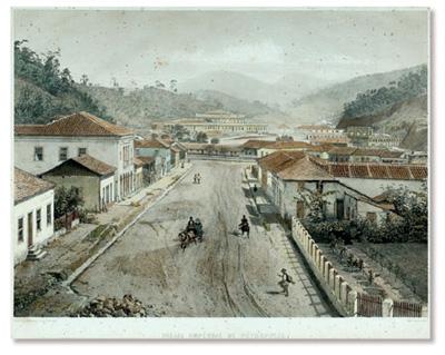 VICTOR FROND (1821 - 1881) 'Palais Imperial de Petrópolis' - Litografia de Eug. Ciceri Lith - Impressão de Lemercier, Paris - 36 x 48 cm.
