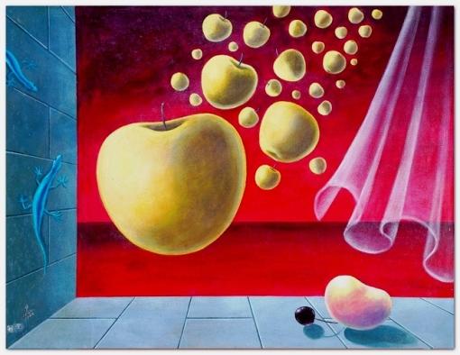 Walter Lewy (1905-1995) Maçãs,1985, ost,72x93