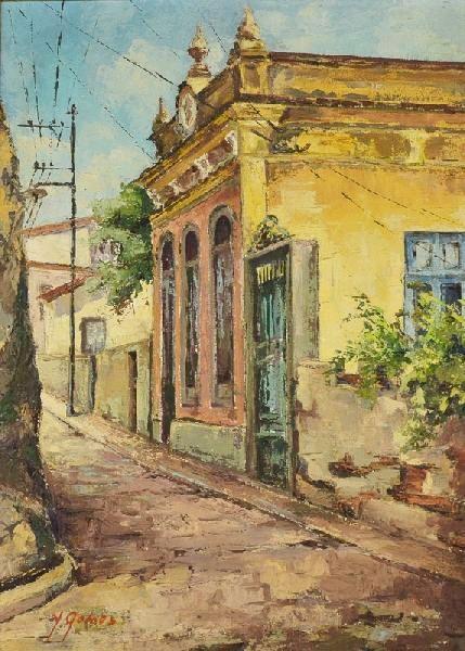 Yêda Gomes - Rio Antigo, o.s.t. - 47 x 34 cm. Assinado e datado 90