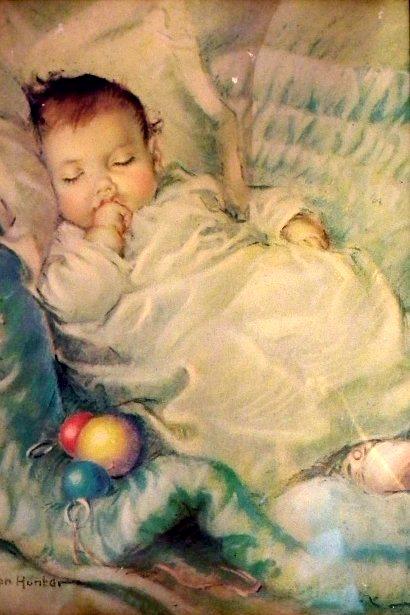 bebe dormindo, Frances Tipton Hunter (1896 – 1957, American)