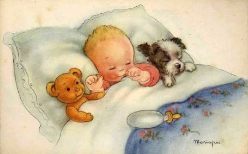 bebe dormindo, Maria Pia Franzoni (1902 - , Italian)