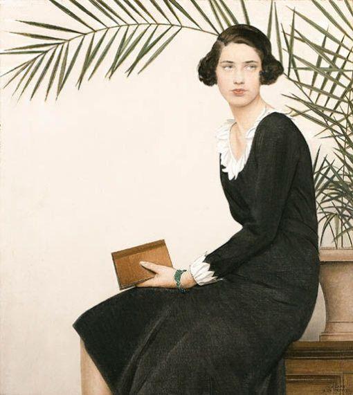 Bernard Boutet de Monvel (1881-1949) — Portrait of Virginia Shaw ,1930.