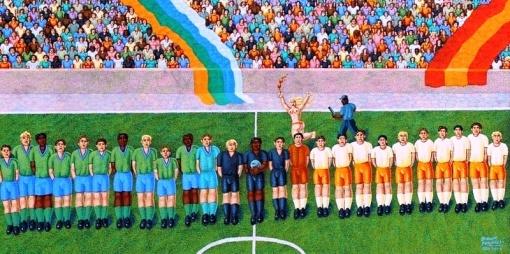 Futebol, 40x80, de Ernani Pavaneli.