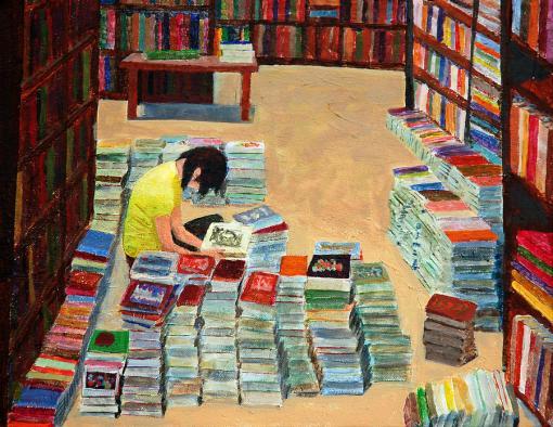 Livros usados, David Carson Taylor, acrilica