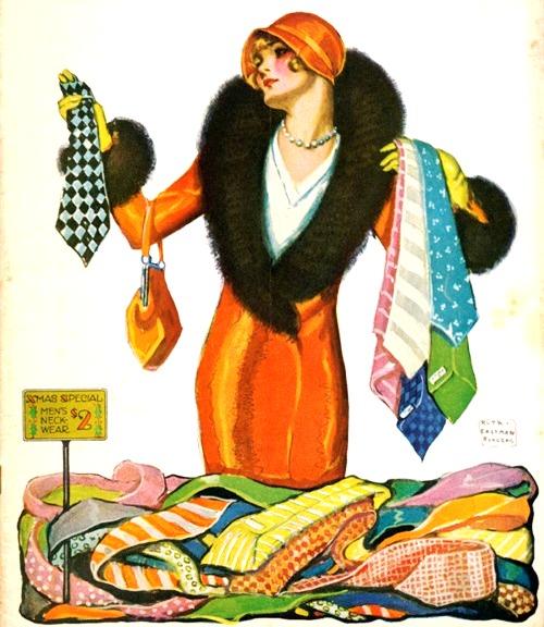 presentes, gravatas, Ruth Eastman, Judge magazine, dez 1929