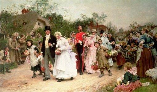 The Village Wedding by Sir Samuel Luke Fildes, 1883 -