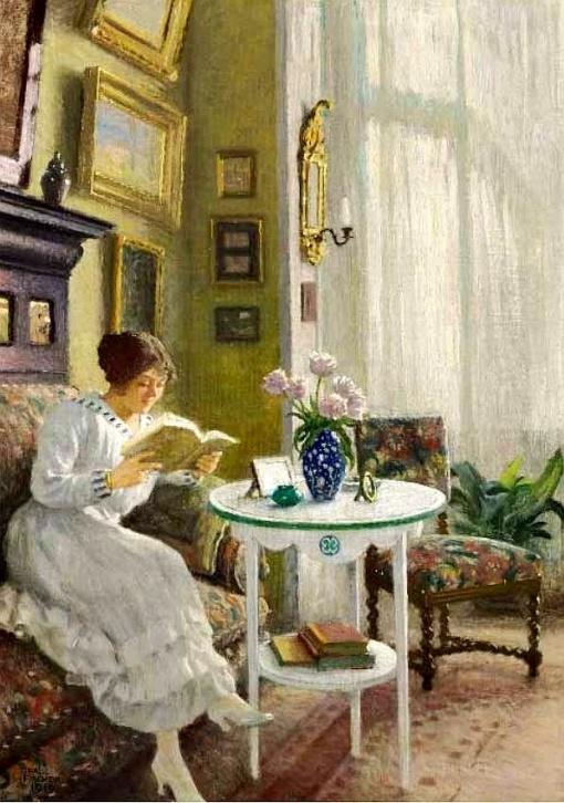 Fischer, Paul Gustave (Dinamarca, 1860-1934) Afternoon read