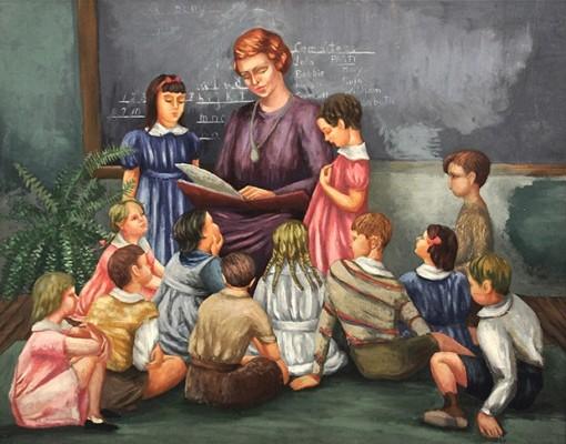 Frances Strain, Garnett's First Grade Class at the U of C Lab School, 1936