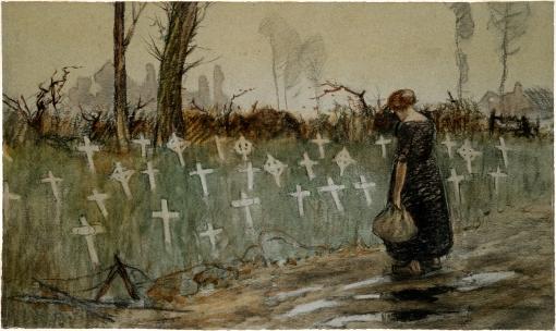 George_Edmund_Butler_-_A_roadside_cemetery_near_Neuve_Eglise