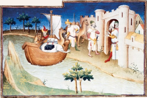 Marco Polo at the gates of Hormuz City(maybe) Livres des Merveilles, Snark, Bibliotheque Nationale