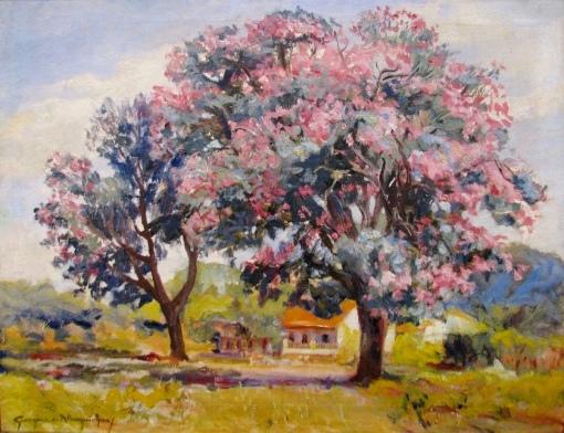 Paisagem,Georgina Albuquerque - óleo sobre tela sem data, PESP